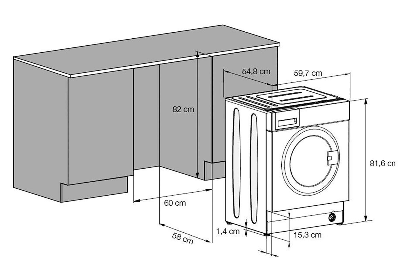 Размеры стиральной машины: высота, ширина, вес, стандартные габариты