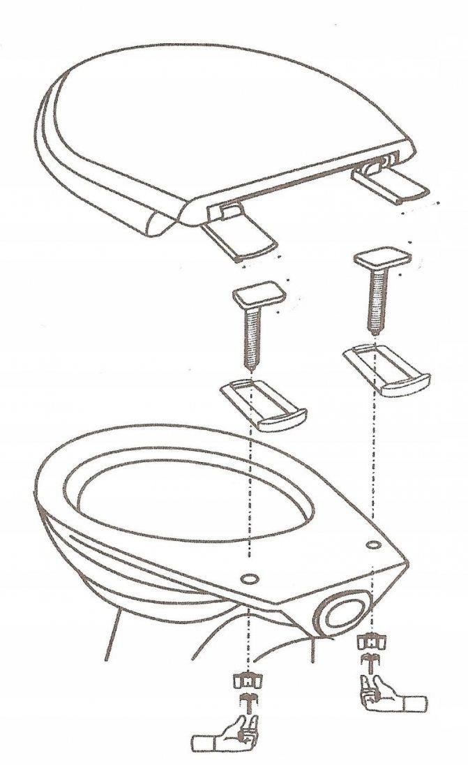 Как собрать, установить и закрепить сиденье для унитаза своими руками? это может сделать каждый!