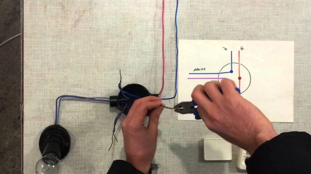 Схема подключения выключателя света подробная пошаговая инструкция