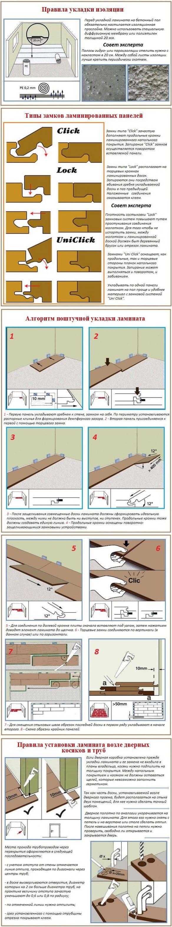 Укладка ламината без порогов: способы быстрой укладки