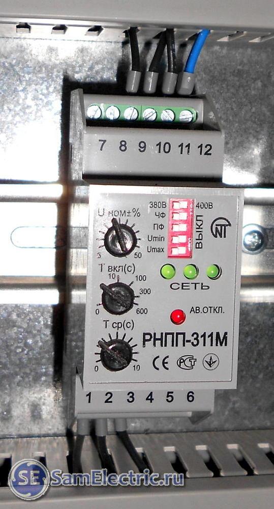 Реле контроля фаз: принцип работы, виды, маркировка + как отрегулировать и подключить