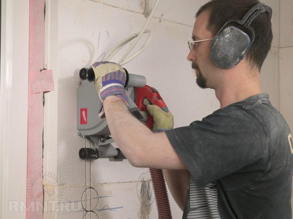Штробление стен под проводку: инструменты, правила