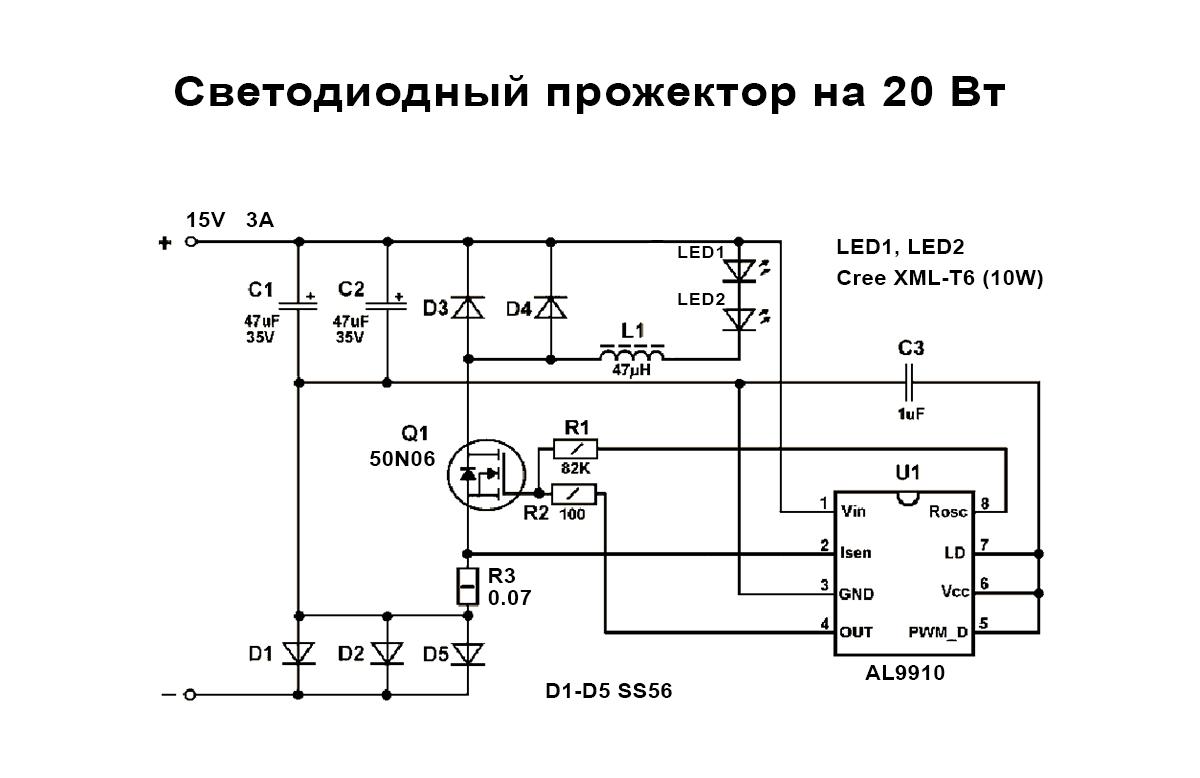 Как подобрать драйвер для светодиодов? ответ эксперта
