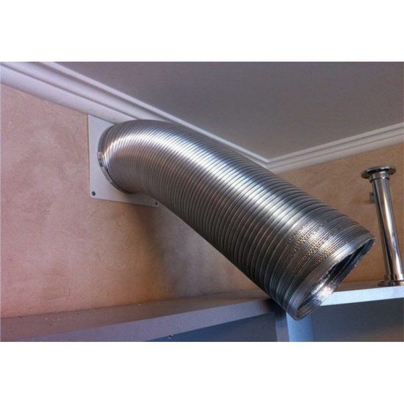 Гофра для вытяжки (39 фото): как спрятать пластиковую гофротрубу на кухне, какие бывают по диаметру