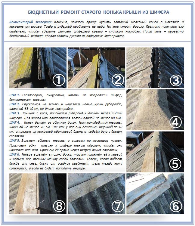 ➤ 8 способов заделать трещину в шифере на крыше   мы строители ✔1