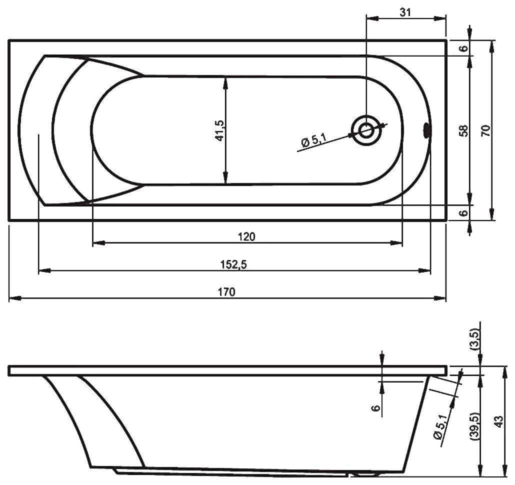 Размеры чугунной ванны (ширина и длина), сколько весит чугунная ванна (фото, видео)