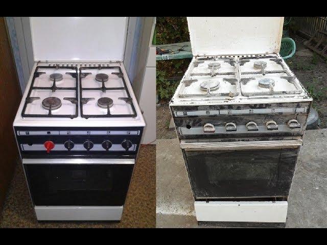 Чем покрасить газовую плиту в домашних условиях