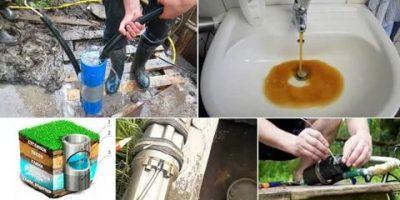 Очистка воды из скважины — что делать если вода мутная или желтеет