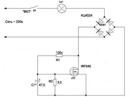 Плавное включение ламп накаливания на 220в