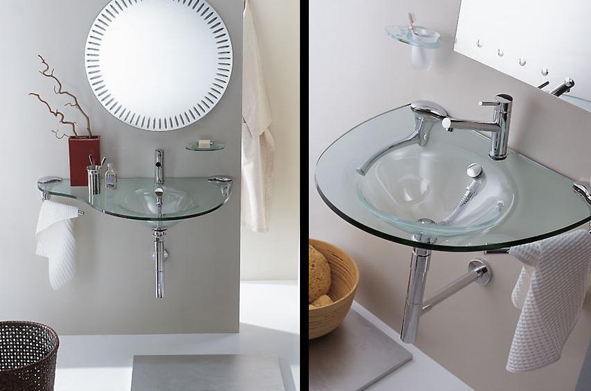 Стеклянные раковины для вашей ванной комнаты