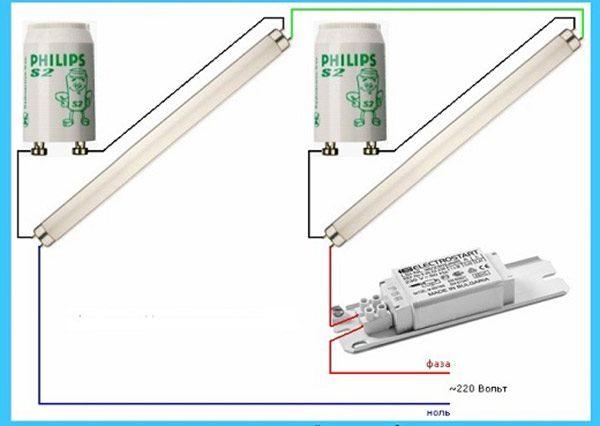 Как запустить люминесцентные лампы с помощью эпра