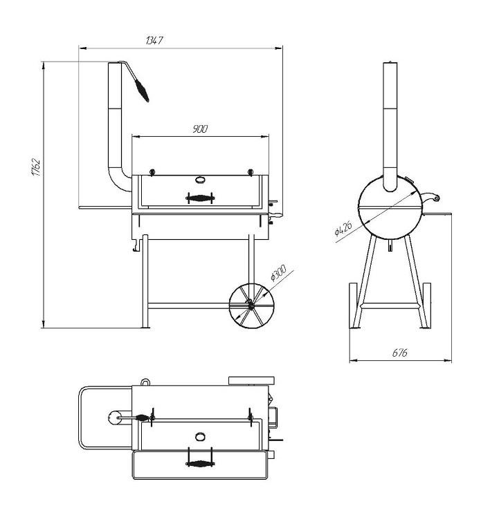 Как сделать мангал из газового баллона своими руками: чертежи и фото
