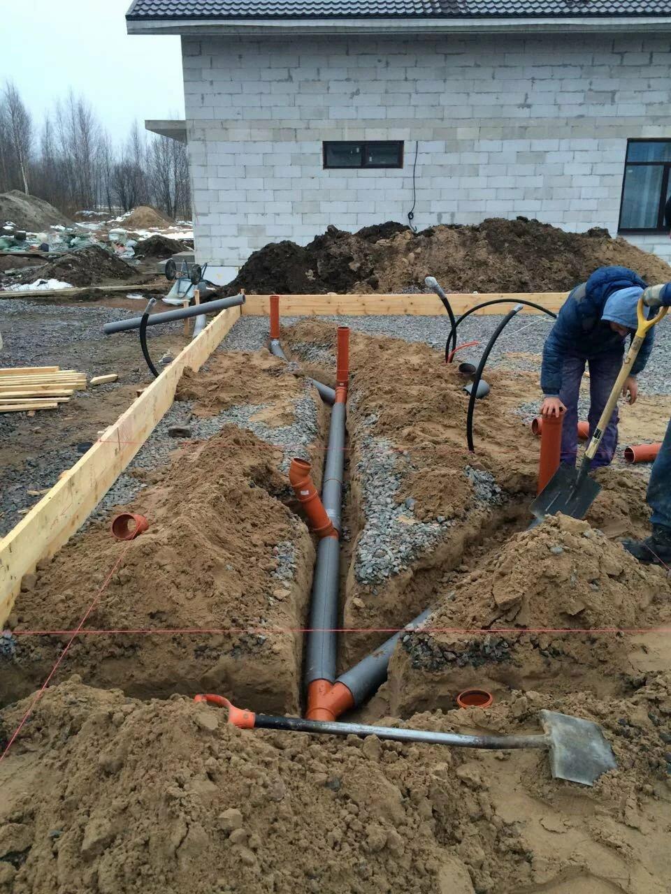 Глубина заложения канализационных труб – снип, особенности + видео