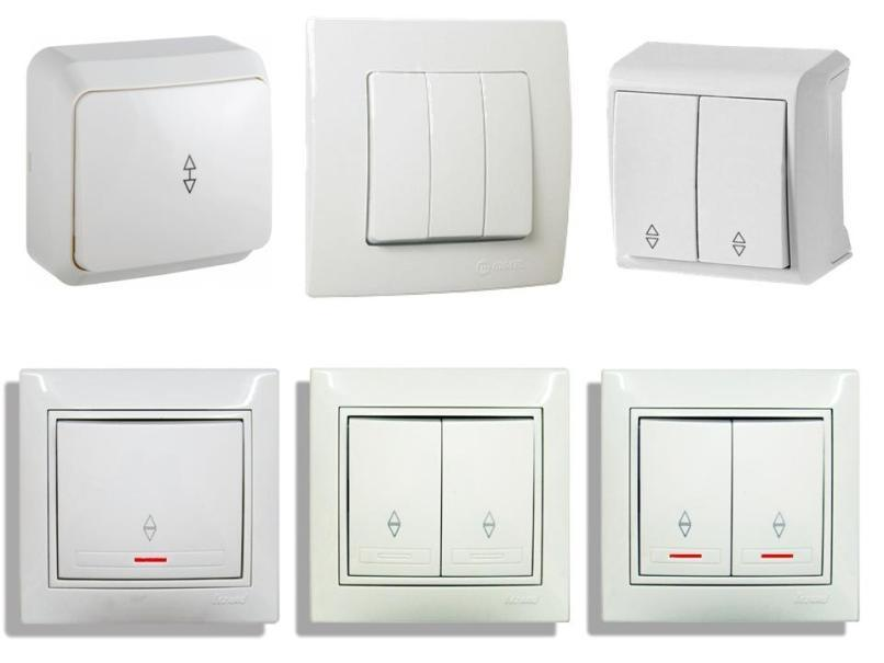 Виды и типы выключателей света — обзор по вариантам подключения + разбор популярных брендов
