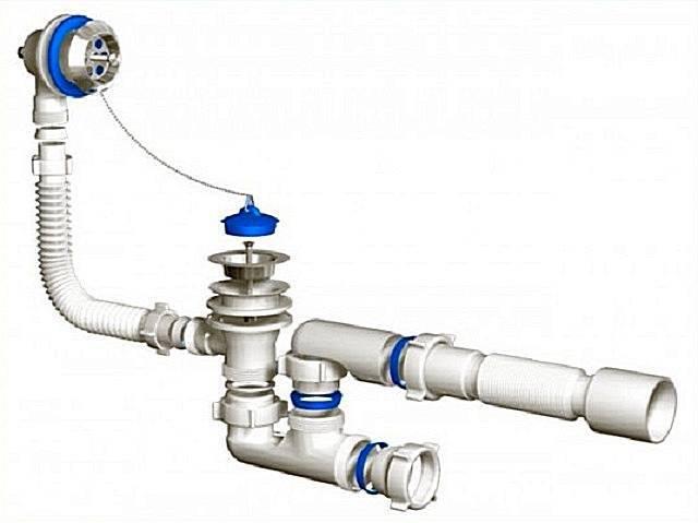 Сифон для ванны (87 фото): выбираем слив-перелив - какой лучше, устройство и как собрать, обвязка и водосливная арматура