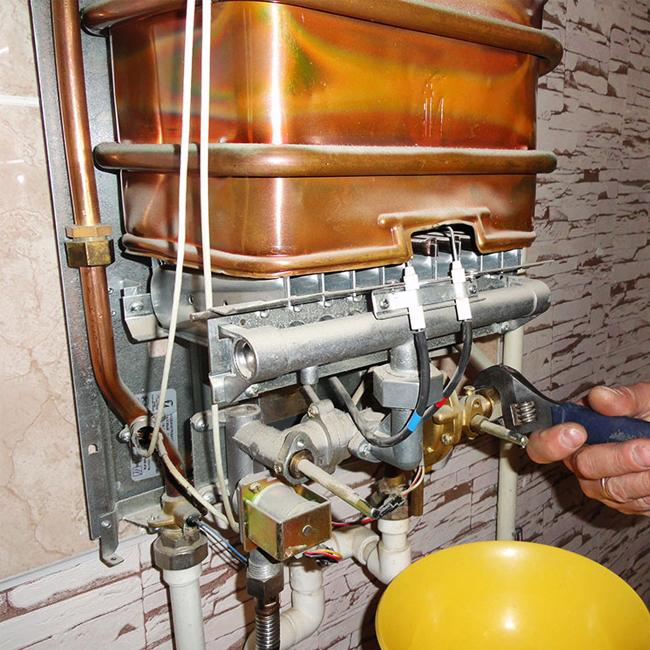 Как почистить газовую колонку от накипи, копоти