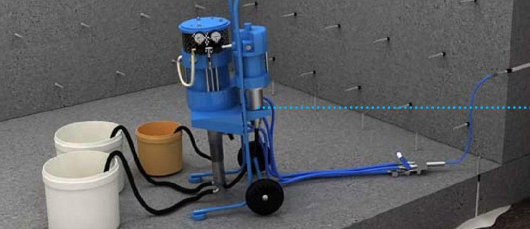 Инъектирование бетона: технология, оборудование и составы