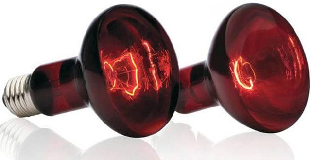 Инфракрасные лампы для обогрева помещений: красная лампа инфракрасного излучения, ик нагревательные тепловые лампы
