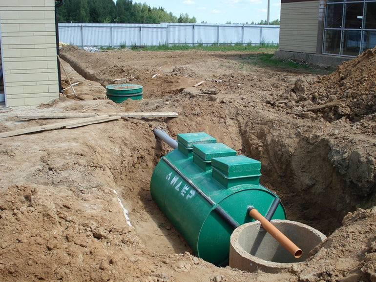 Канализация для дачи высокий уровень грунтовых вод