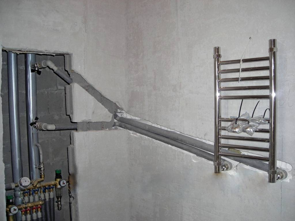 Подключение электрического полотенцесушителя: пошаговые монтажные инструкции