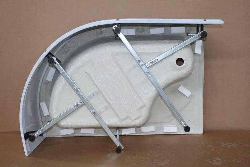 Как собрать поддон душевой кабины — монтаж усиленных моделей