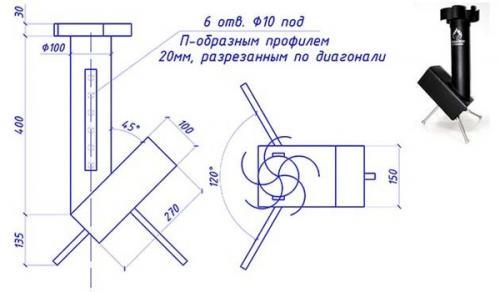 Печь ракета своими руками - инструкция!