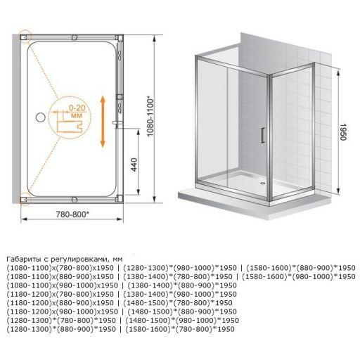 Какие бывают размеры угловых душевых кабин?