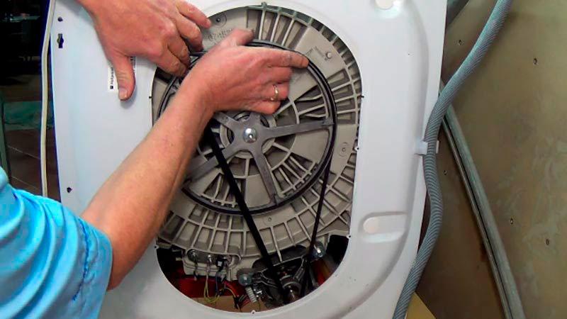 Замена ремня на стиральной машине ✅: как одеть на барабан, натянуть, поменять, поставить