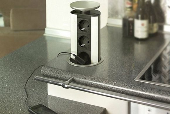 Расположение розеток на кухне: схема размещения, высота, расстояния
