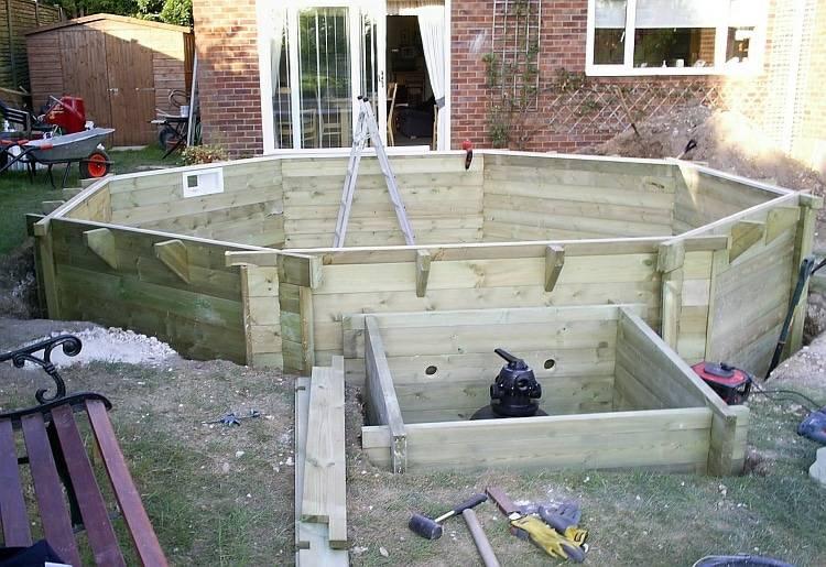Как своими руками сделать бассейн на даче и чем его накрыть
