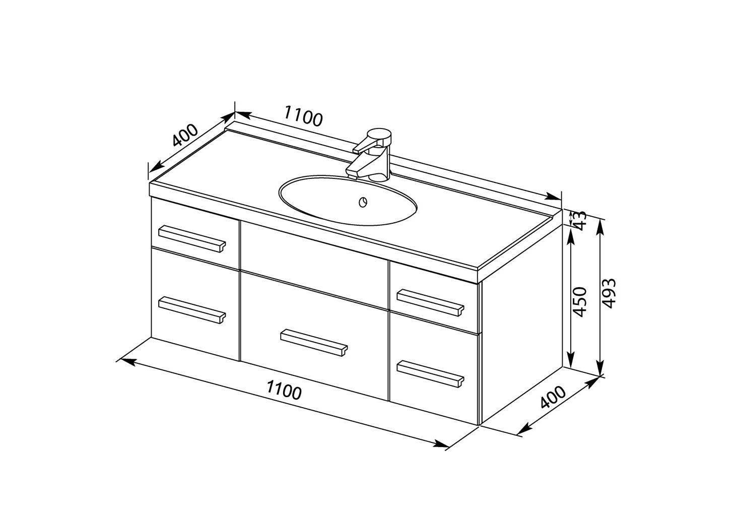 Размеры раковины для ванной комнаты: особенности размещения и дизайна (+ фото)