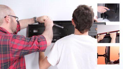 Как повесить телевизор на стену: советы по монтажу и размещению техники
