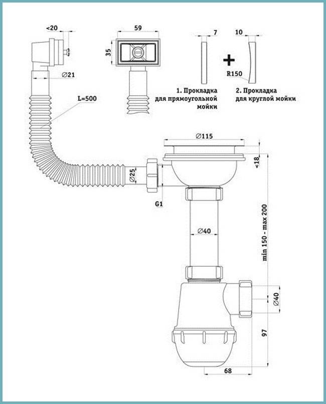 Как собрать сифон для раковины на кухне: инструкция по установке своими руками