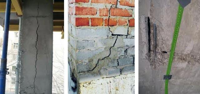 Трещины в бетоне и способы их устранения