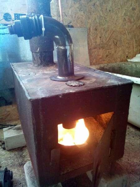 Буржуйка на отработанном масле: изготовление печки своими руками
