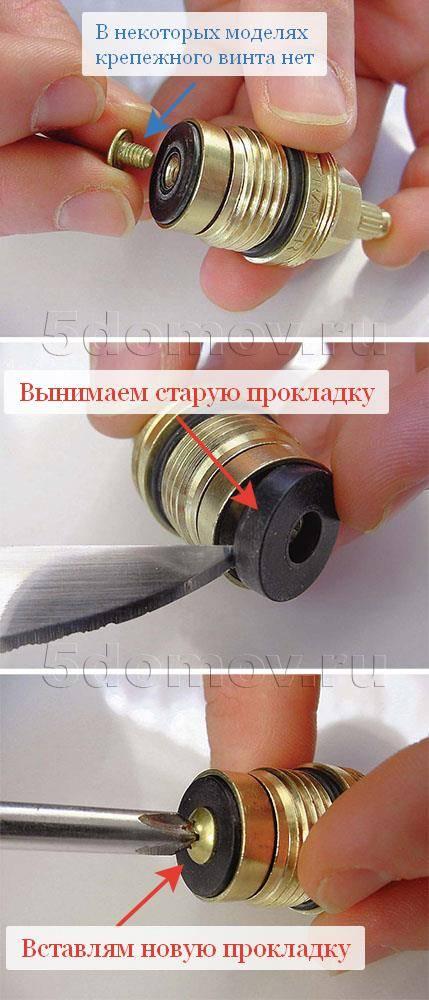 Замена кран-буксы в двухвентильном смесителе - пошаговая инструкция - мужик в доме.ру