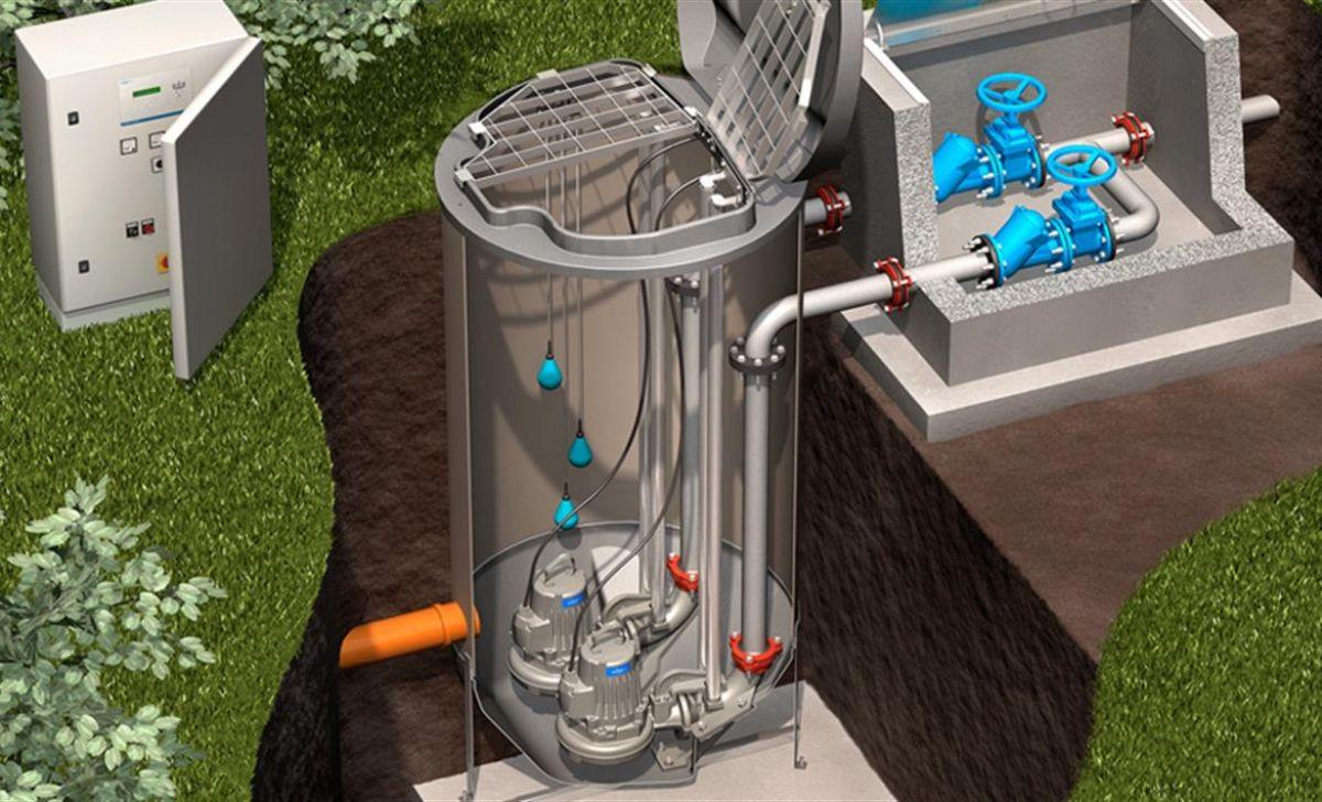 Установка канализационной насосной станции