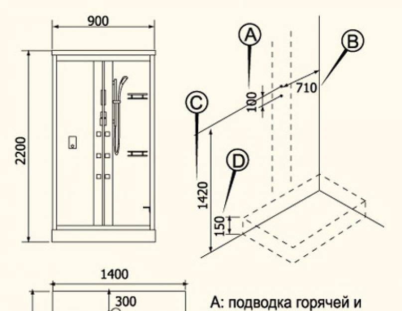 Душевая кабина своими руками: порядок сооружения и подключения к коммуникациям