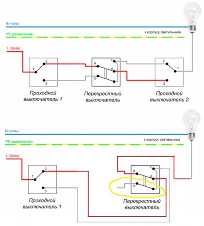 Как выбрать проходной выключатель: устройство и назначение различных видов + маркировка