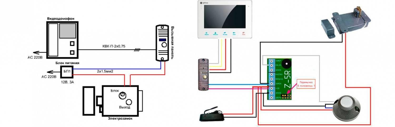 Как самостоятельно подключить домофон и установить электромеханический замок: схема и видео подключения