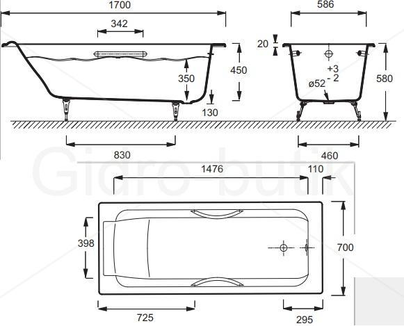 Высота ванны от пола: стандарт для правильной установки