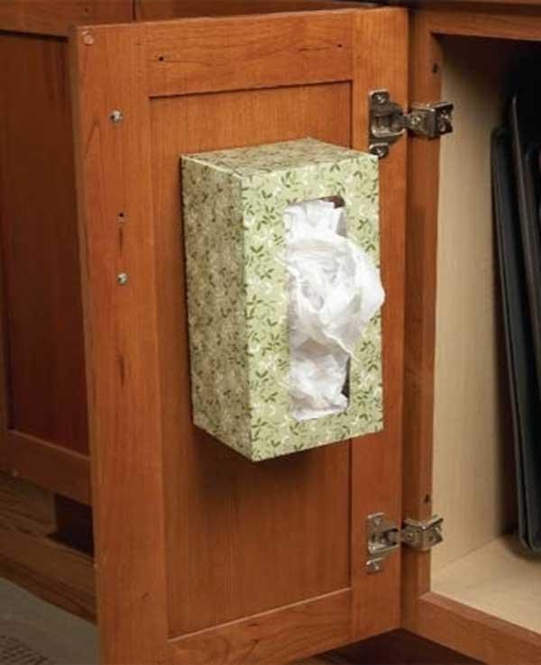 Как хранить пакеты на кухне: идеи компактного размещения пластиковых мешочков