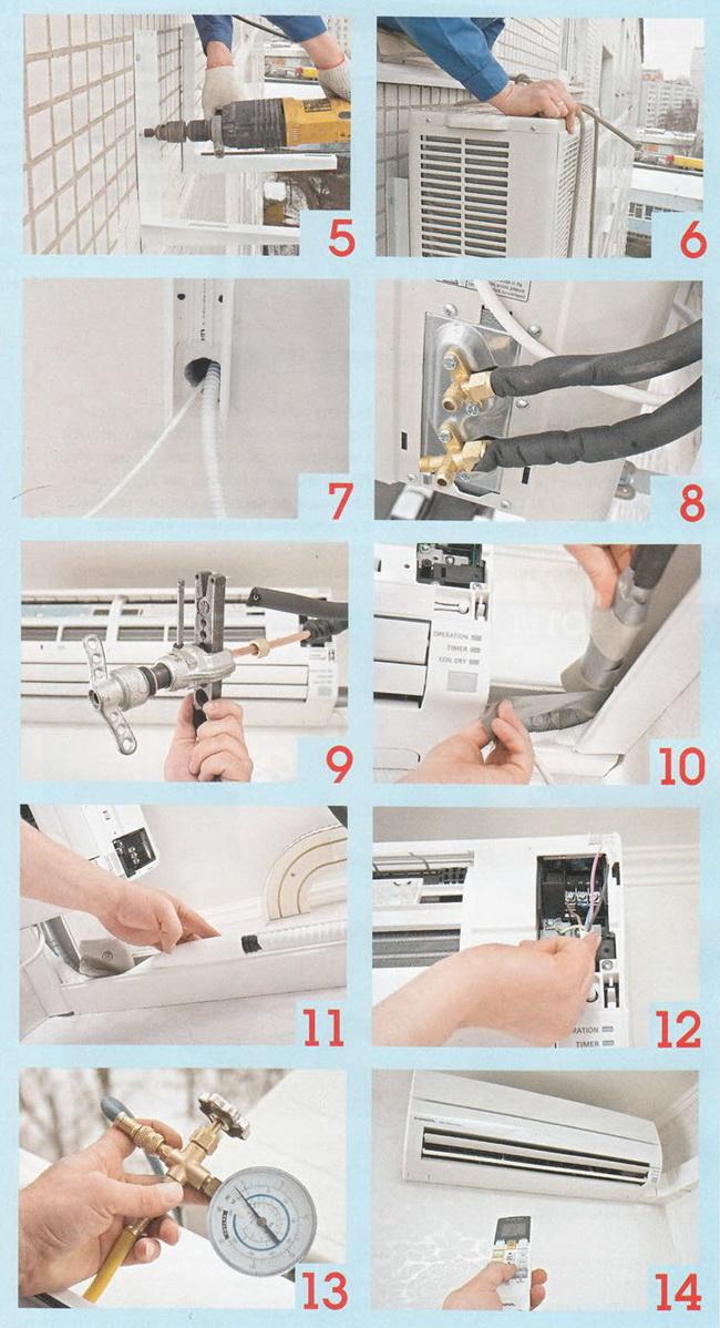 Как установить кондиционер: подключение и установка сплит системы своими руками