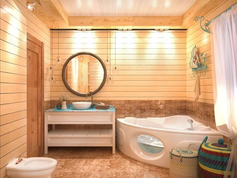 Ванная комната в деревянном доме - важные нюансы
