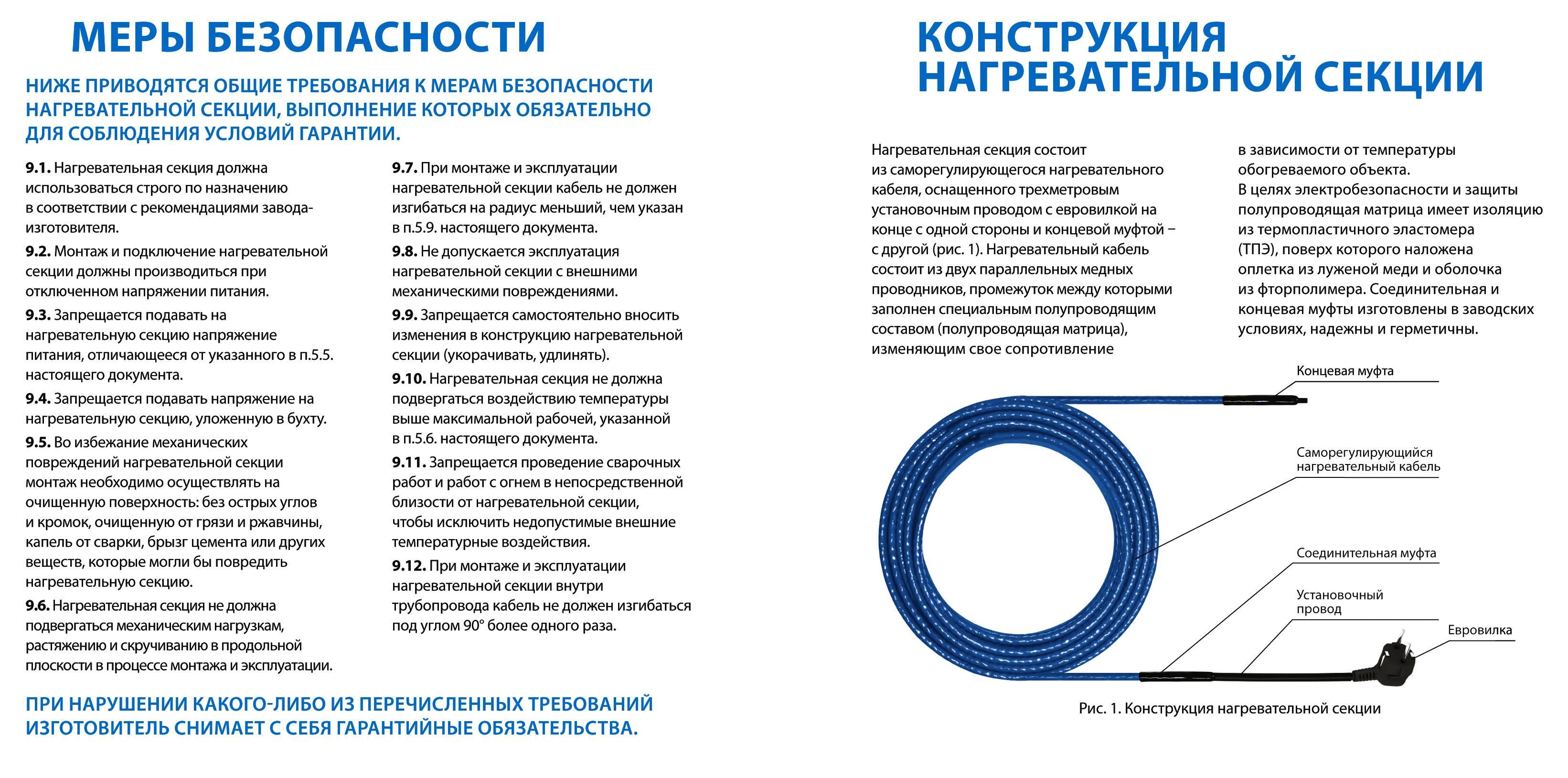 Саморегулирующий греющий кабель: виды, устройство и принцип работы, преимущества, область применения, критерии выбора, особенности монтажа