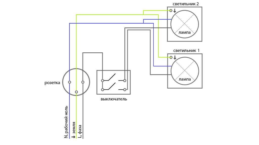 Розетка с выключателями в одном корпусе - схема подключения одноклавишной и двухклавишной