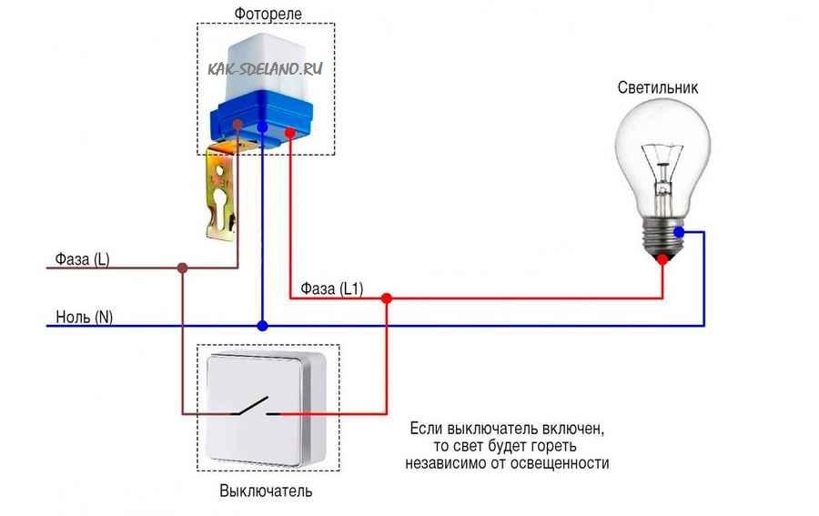 Как выбрать и подключить фотореле для уличного освещения