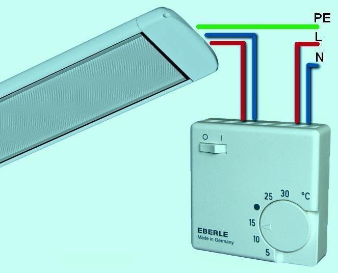 Как подключить терморегулятор для инфракрасного обогревателя?