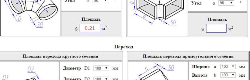 Расчёт площади воздуховодов и фасонных конструкций: как правильно спроектировать конструкцию и рассчитать показатели