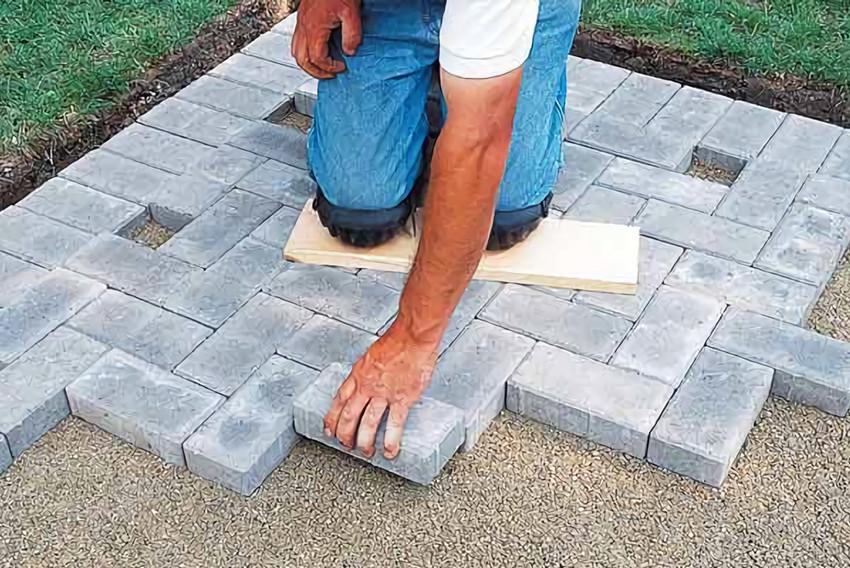 Технология укладки тротуарной плитки на бетонное основание